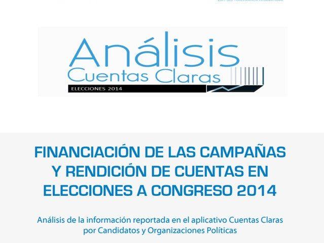 Análisis cuentas claras – Elecciones Congreso 2014