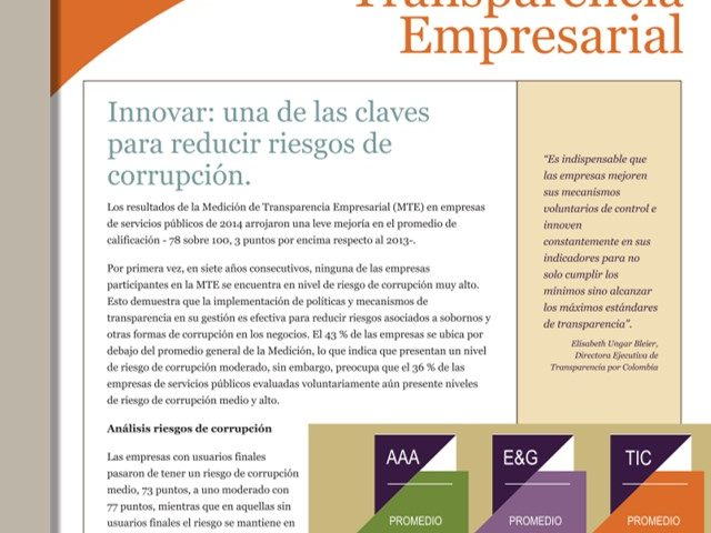 Boletín Transparencia Empresarial – Innovar: una de las claves para reducir riesgos de corrupción