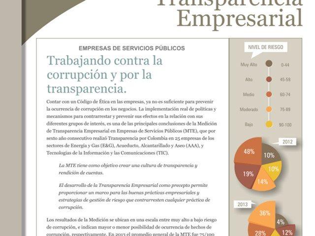 Boletín Transparencia Empresarial – Trabajando contra la corrupción y por la transparencia