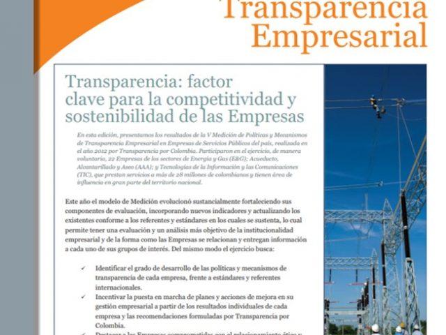 Boletín Transparencia Empresarial – Transparencia: factor clave para la competitividad y sostenibilidad de las empresas