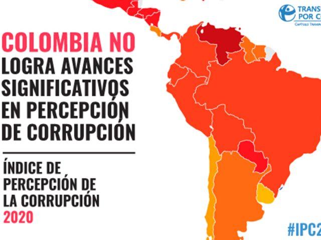 Colombia no logra avances significativos en percepción de corrupción