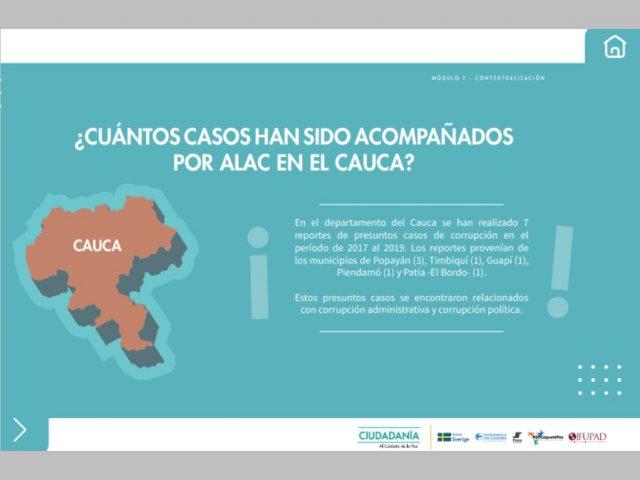 Conoce algunos datos de corrupción en Colombia (Cauca)
