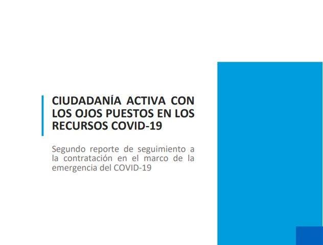Segundo reporte de seguimiento a la contratación en el marco de la emergencia Covid-19