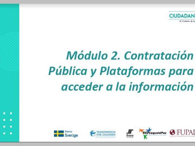 Contratación pública y plataformas para acceder a la información