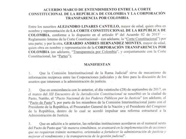 Convenio Corte Constitucional