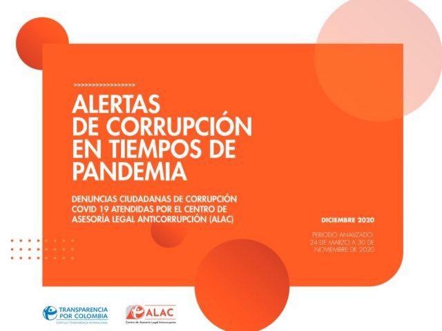 Denuncias ciudadanas de corrupción Covid-19 atendidas por el Centro de Asesoría Legal Anticorrupción (ALAC)