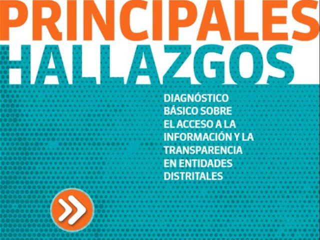 Diagnóstico Básico sobre el Acceso a la Información y la Transparencia en Entidades Distritales