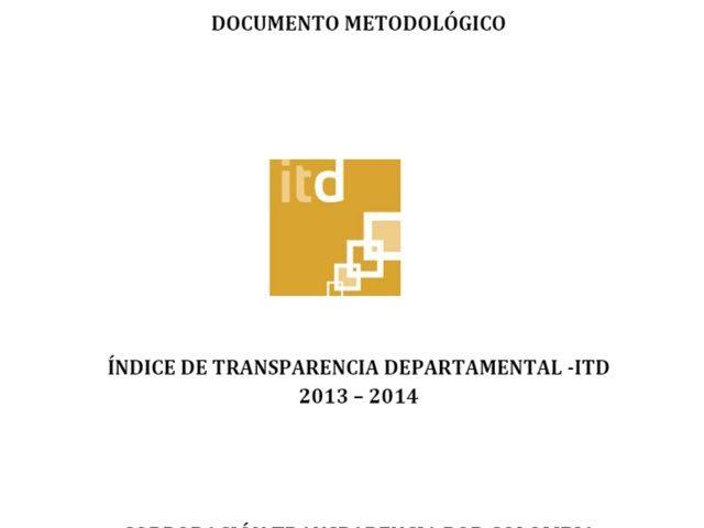 Documento Metodológico ITD Contralorías 2013 – 2014