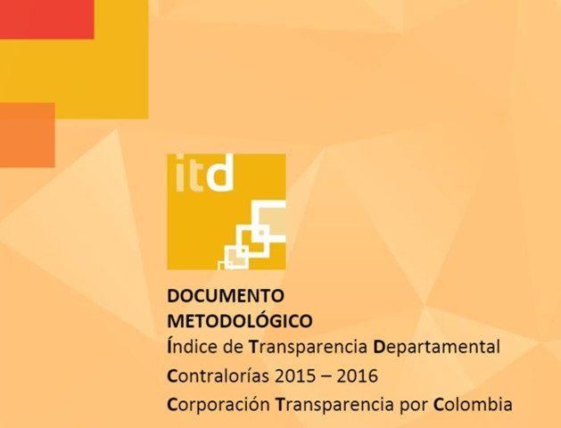 Documento Metodológico ITD Contralorías 2015 – 2016