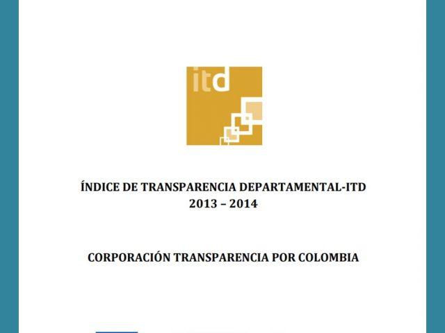 Documento Metodológico ITD Gobernaciones 2013 – 2014