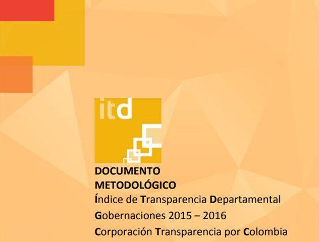Documento Metodológico ITD Gobernaciones 2015 – 2016