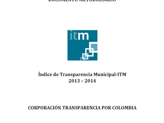Documento Metodológico ITM 2013 – 2014