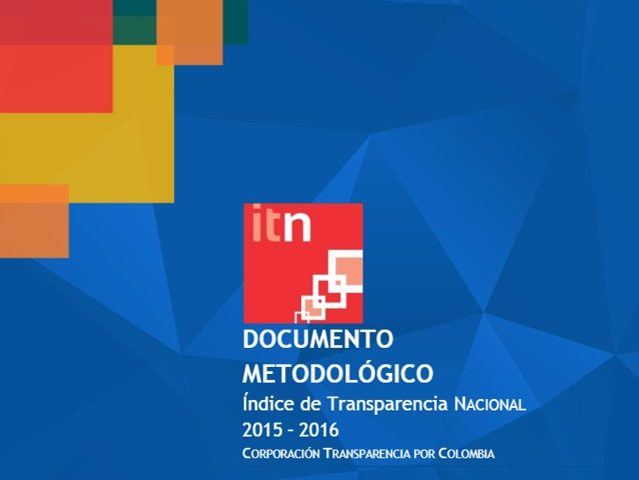 Documento Metodológico ITN 2015 – 2016