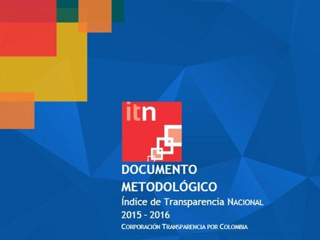 Documento Metodológico ITN 2015 – 2016