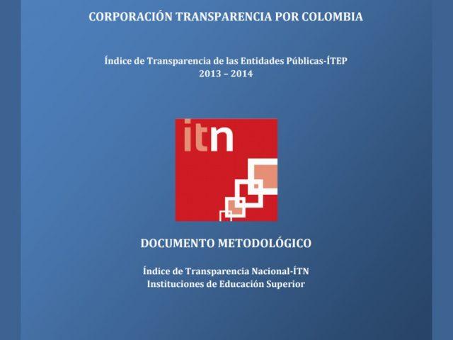 Documento Metodológico ITN IES 2013 – 2014