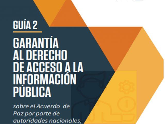 Guía para garantizar el acceso a la información pública