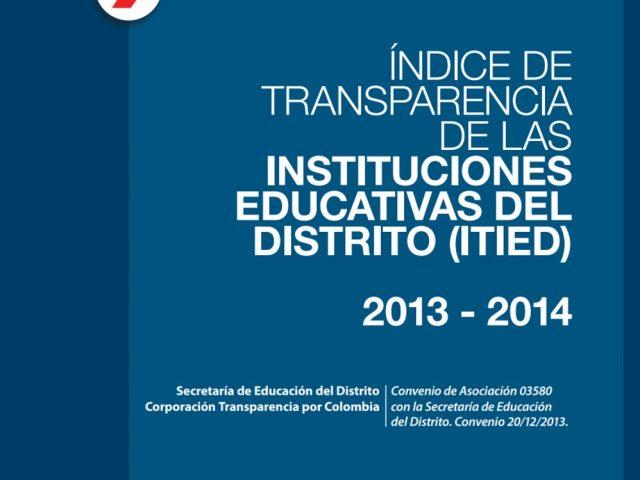 Índice de Transparencia de las Instituciones Educativas del Distrito