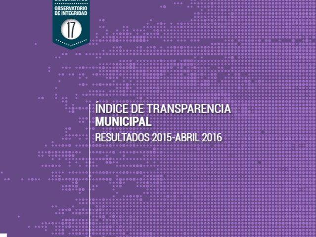 Índice de Transparencia Municipal Resultados 2015 – 2016