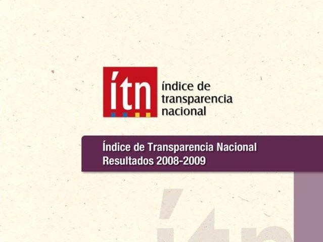 Índice de Transparencia Nacional 2008 – 2009