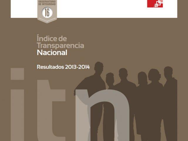Índice de Transparencia Nacional Resultados 2013 – 2014