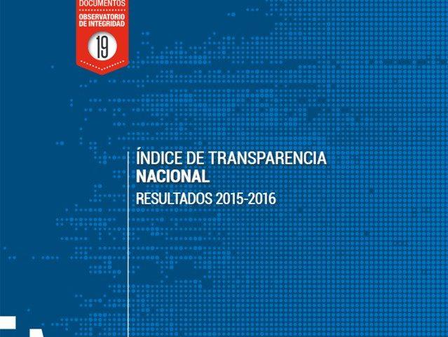 Índice de Transparencia Nacional Resultados 2015 – 2016