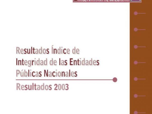 Índice Integridad Nacional 2003