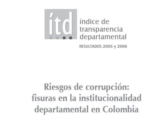 Índice Transparencia Departamental 2005-2006