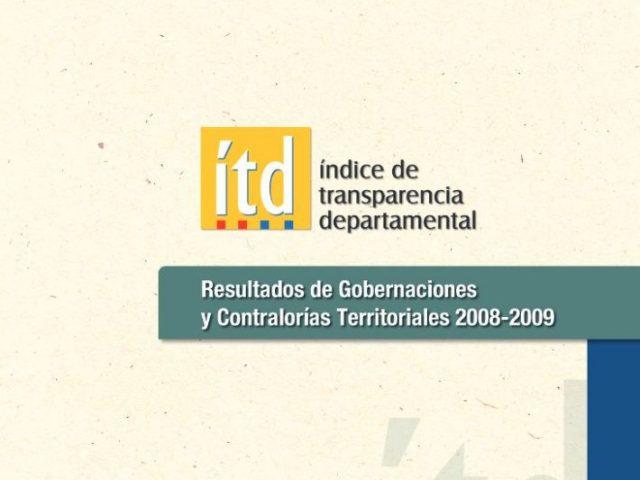 Índice Transparencia Departamental 2008 – 2009