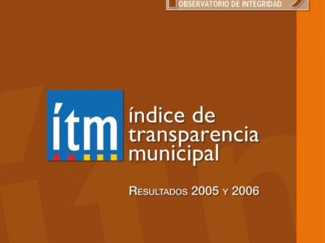 Índice Transparencia Municipal 2005 – 2006