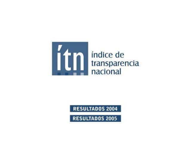 Índice Transparencia Nacional 2004 – 2005