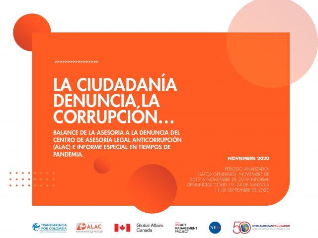 La ciudadania denuncia la corrupcion