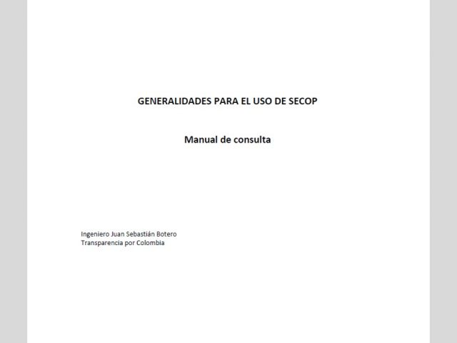Manual de generalidades en uso de SECOP