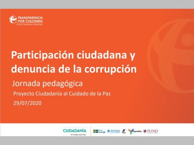 Participación ciudadana y denuncia de la corrupción