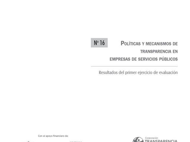 Políticas y Mecanismos de Transparencia en Empresas de Servicios Públicos