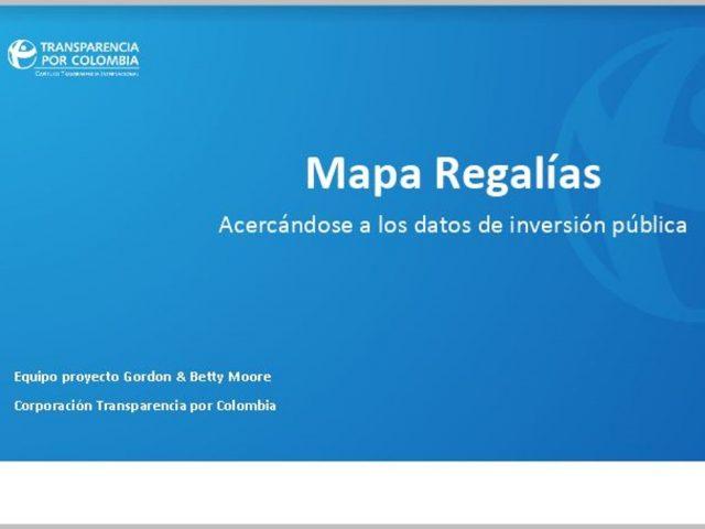 Presentación Mapa Regalías
