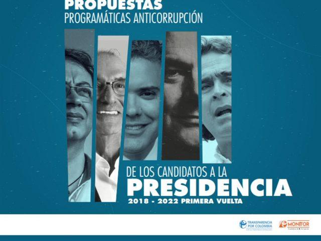 Propuestas programáticas anticorrupción de los candidatos a la presidencia 2018-2022 (Primera vuelta)