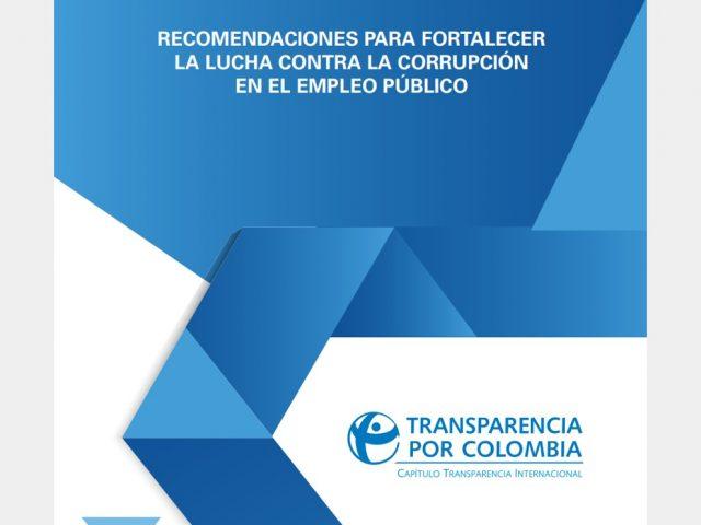 Recomendaciones para fortalecer la lucha contra la corrupción en el empleo público