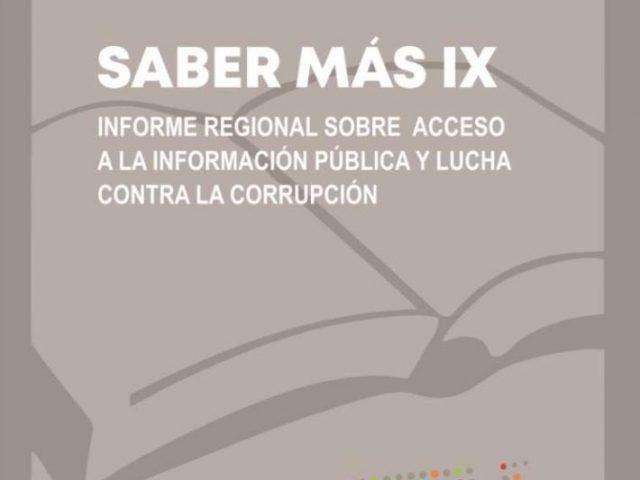 Saber Más IX: Acceso a la Información y Lucha contra la Corrupción