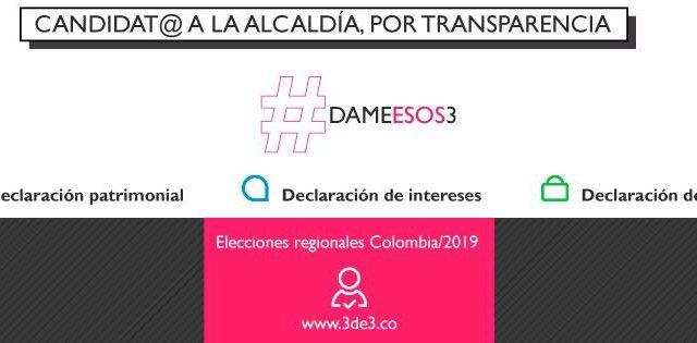 Si piden tu voto, exige el #3de3Colombia