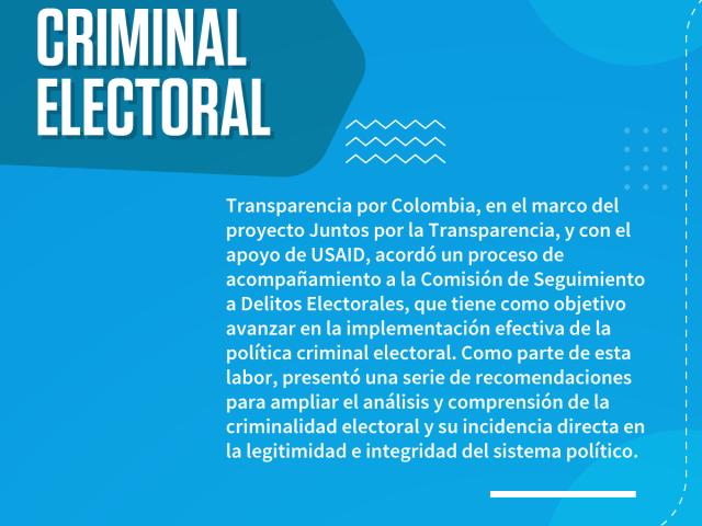 Sobre la política criminal electoral
