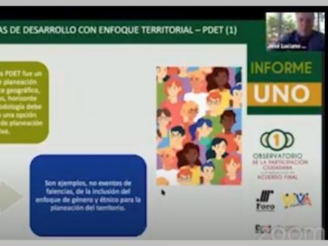 Video Retos de la implementación de los acuerdos de paz PDET y Consejo territorial