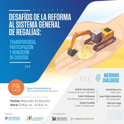 Webinar Desafíos de la reforma al Sistema General de Regalías